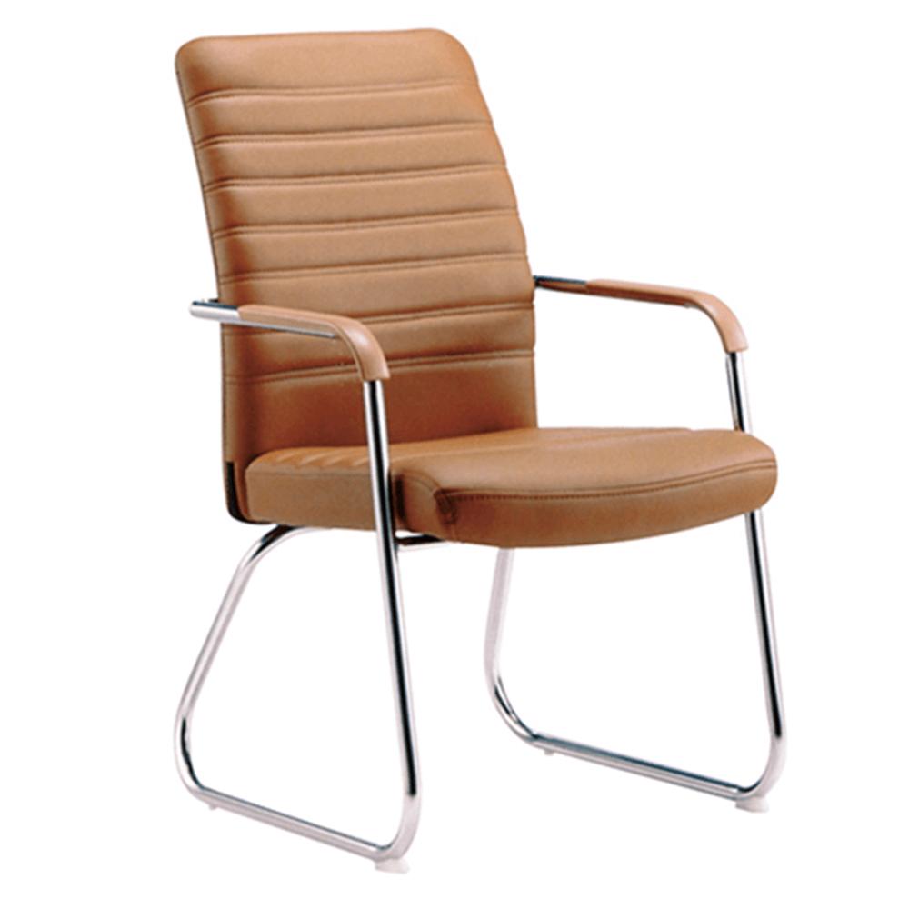 Zasadacia stolička, hnedá-camel/chróm, ISLA
