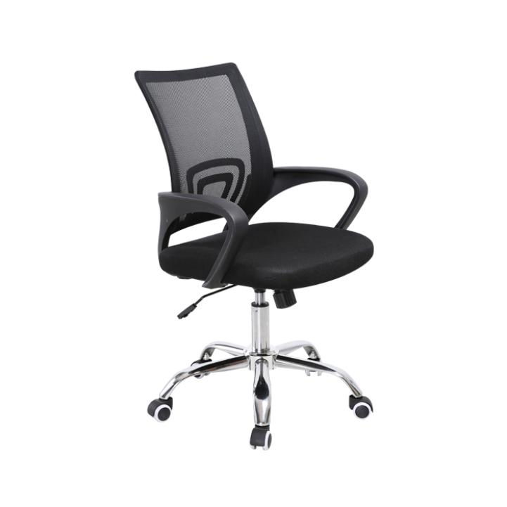 Kancelárska stolička, sieťovina čierna/čierna, DEX 2 NEW