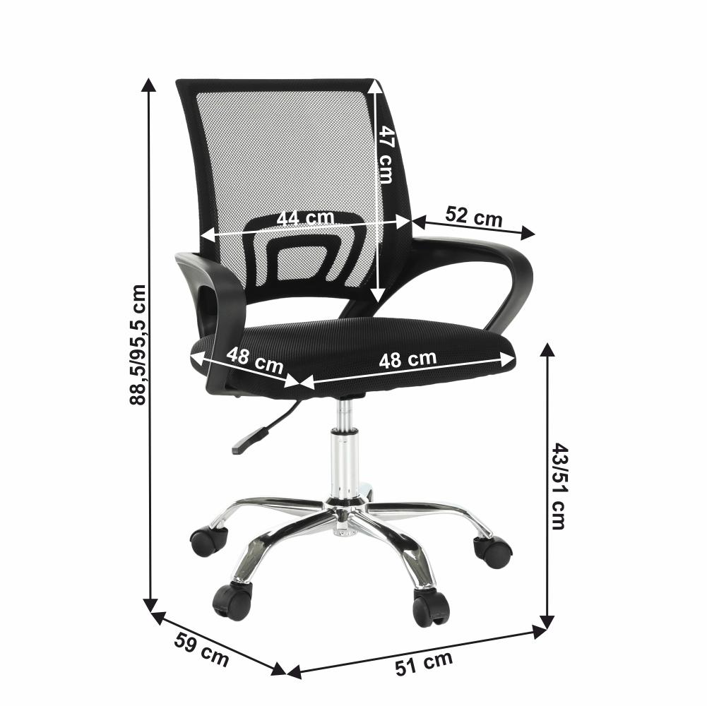 irodai szék,hállós,fekete/fekete, DEX 2 NEW