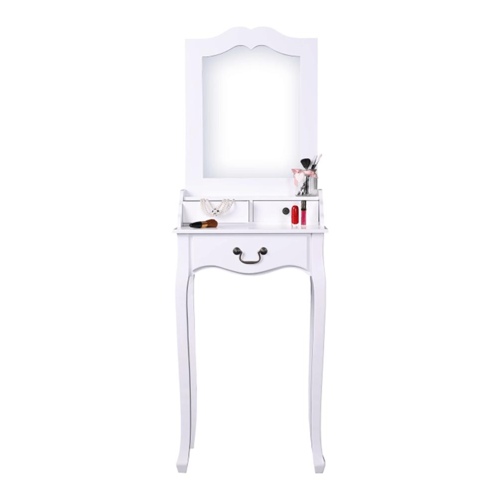 Toaletný stolík, toaletka, biela, GINO