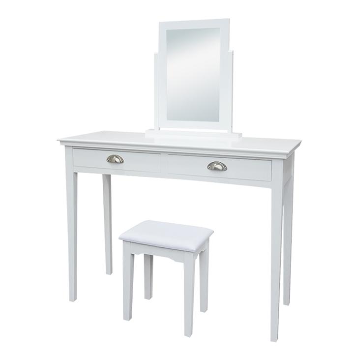 Toaletný stolík, toaletka, biela, RESINA