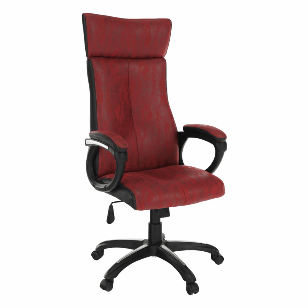 Kancelárske kreslo, červená/čierna, MERSIN