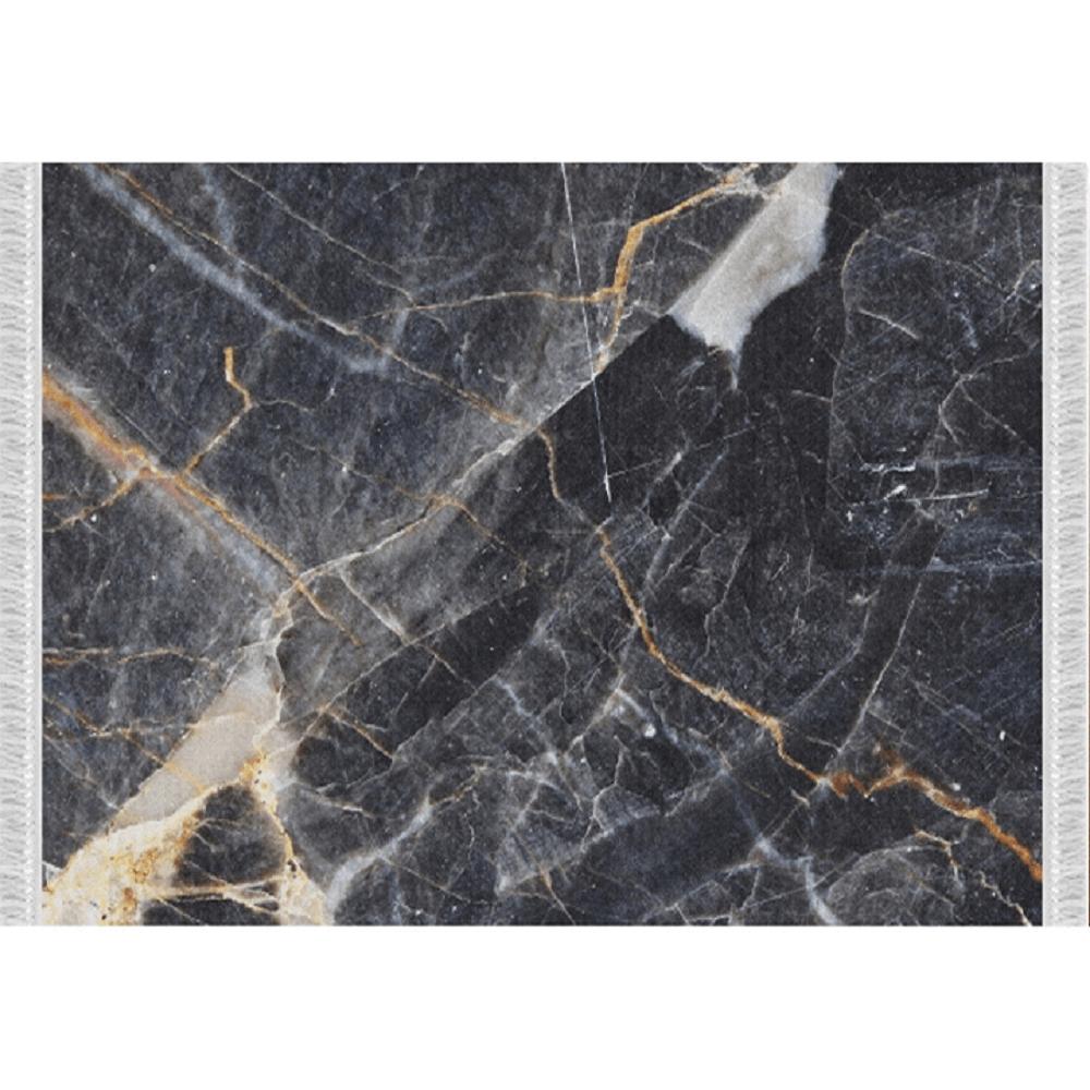 Koberec, vzor černý mramor, 80x150, RENOX TYP 1, TEMPO KONDELA