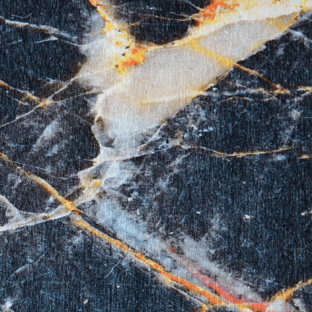 Szőnyeg, fekete márvány minta, 80x200, RENOX TYP 1