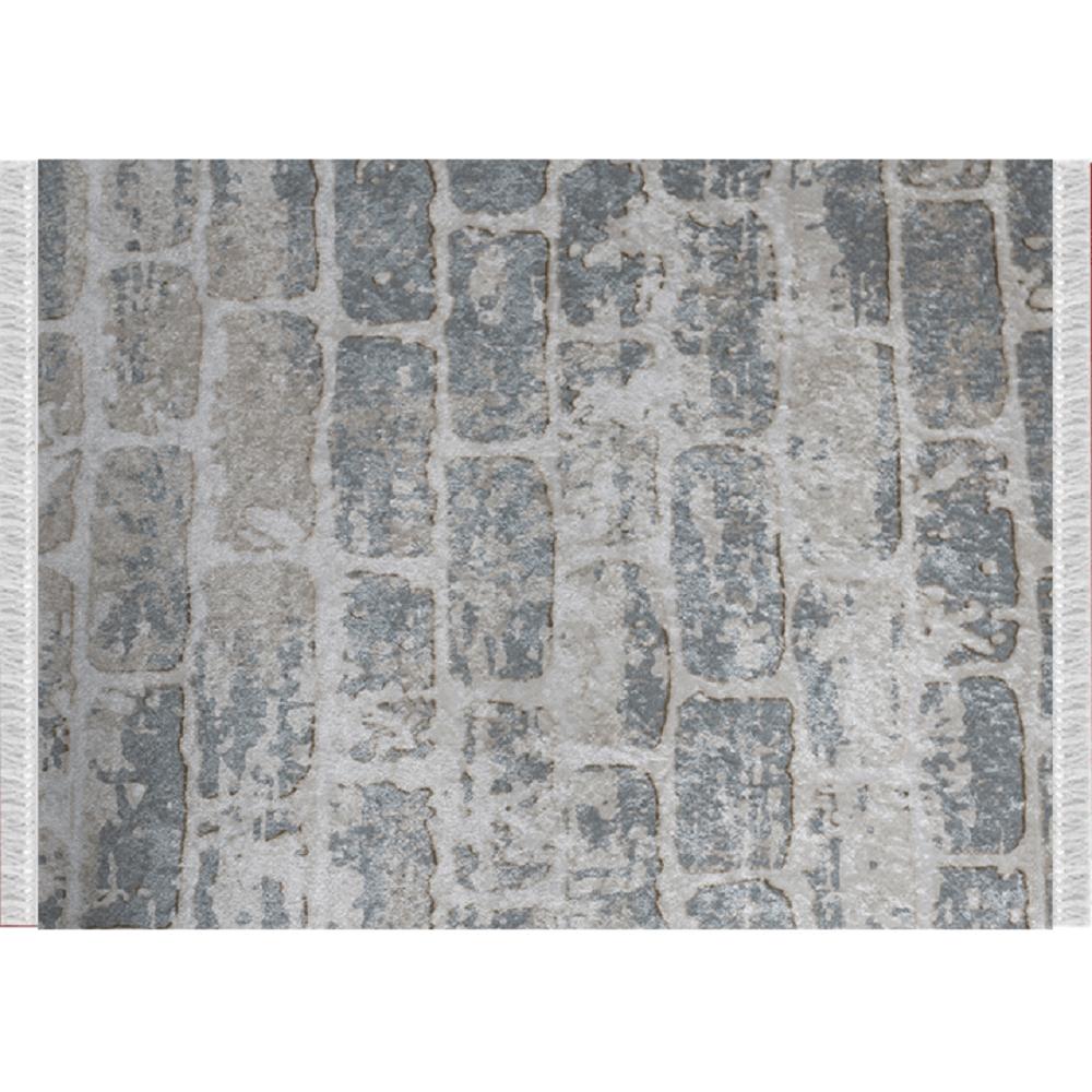 Szőnyeg, szürke/minta tégla, 80x200, MURO