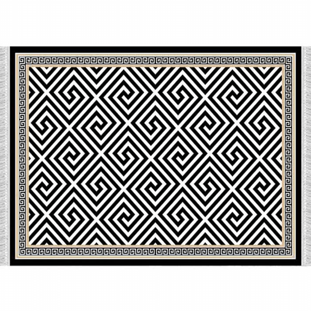 Koberec, černo-bílý vzor, 160x230, MOTIVE, TEMPO KONDELA