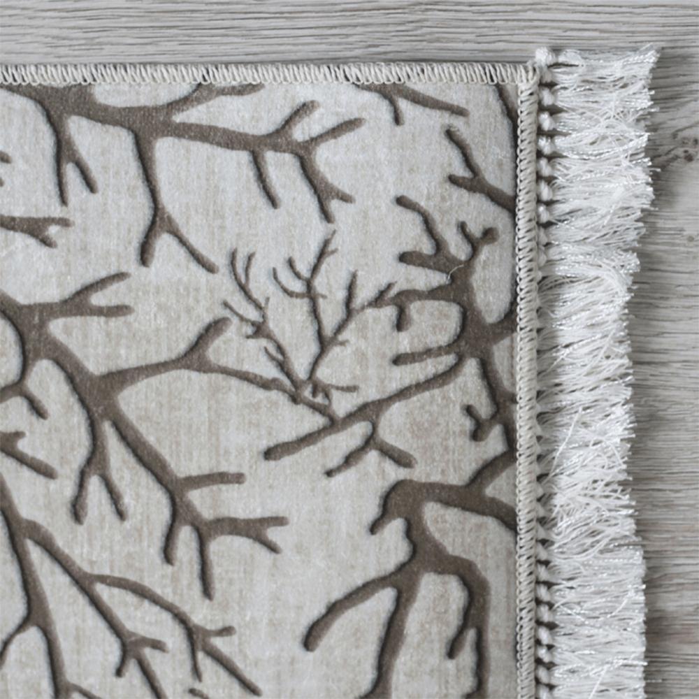 Koberec, béžová / vzor větev, 80x200, ARILA