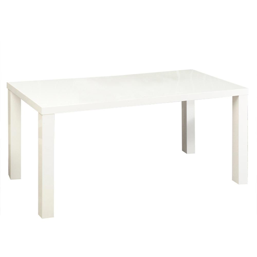 Jedálenský stôl, biela vysoký lesk HG, ASPER NEW TYP 3