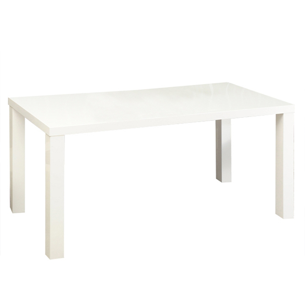 Jídelní stůl, bílá vysoký lesk HG, ASPER NEW TYP 1
