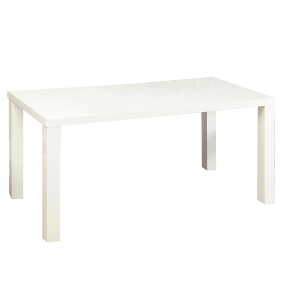 Jedálenský stôl, biela vysoký lesk HG, ASPER NEW TYP 4