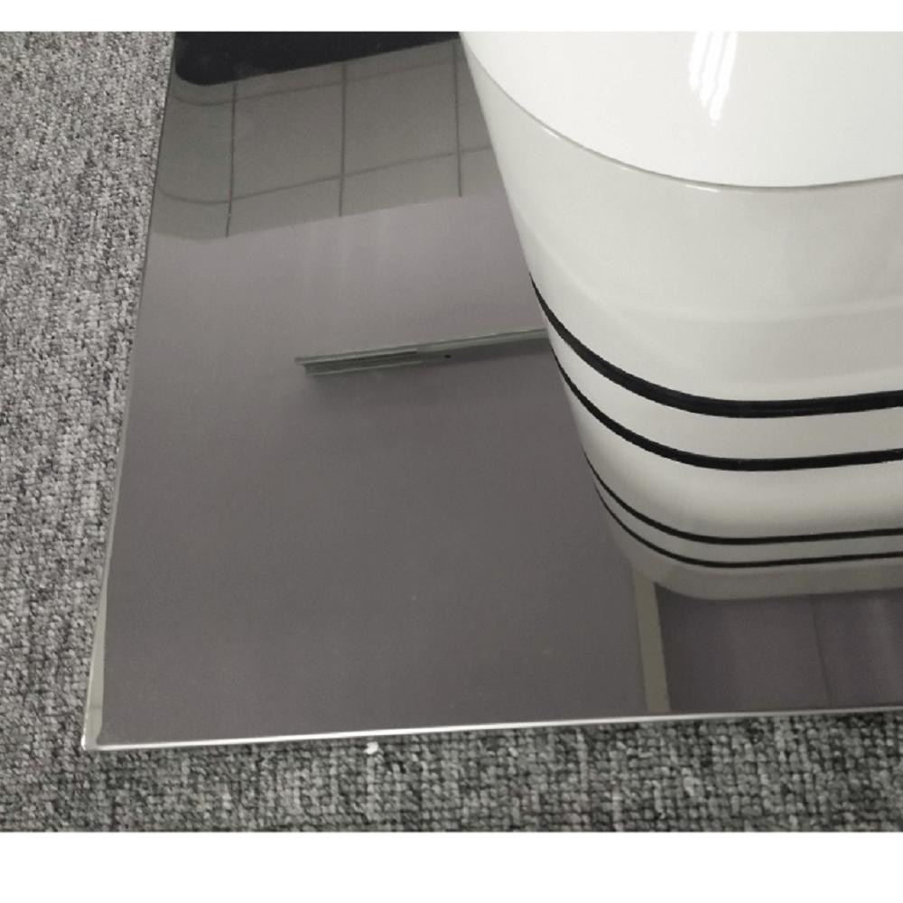 Jedálenský rozkladací stôl, biela vysoký lesk HG/čierne pásy, TUBAL