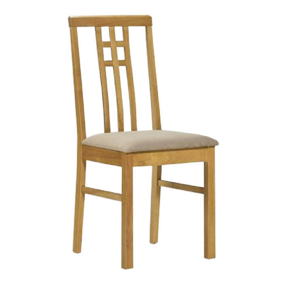 Jídelní židle, dub sonoma/látka krémová, SILAS, TEMPO KONDELA