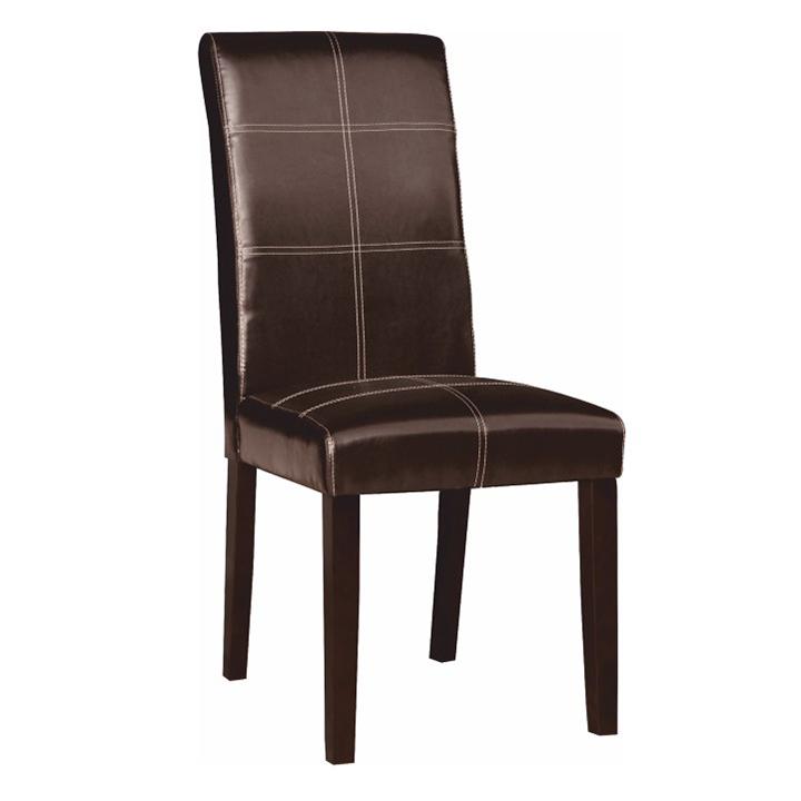 TEMPO KONDELA Jedálenská stolička, tmavohnedá/tmavý orech, RORY 2 NEW