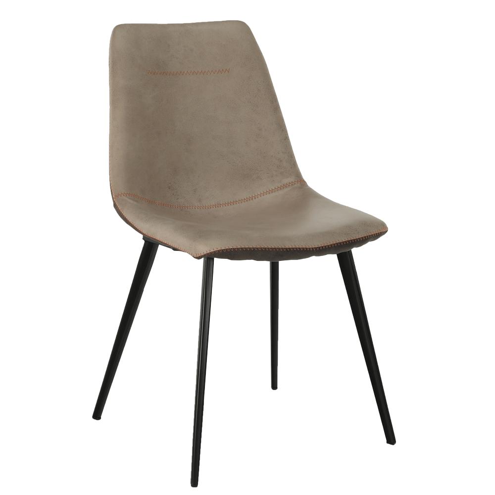 Jedálenská stolička, béžová/hnedá, DOTS, rozbalený tovar