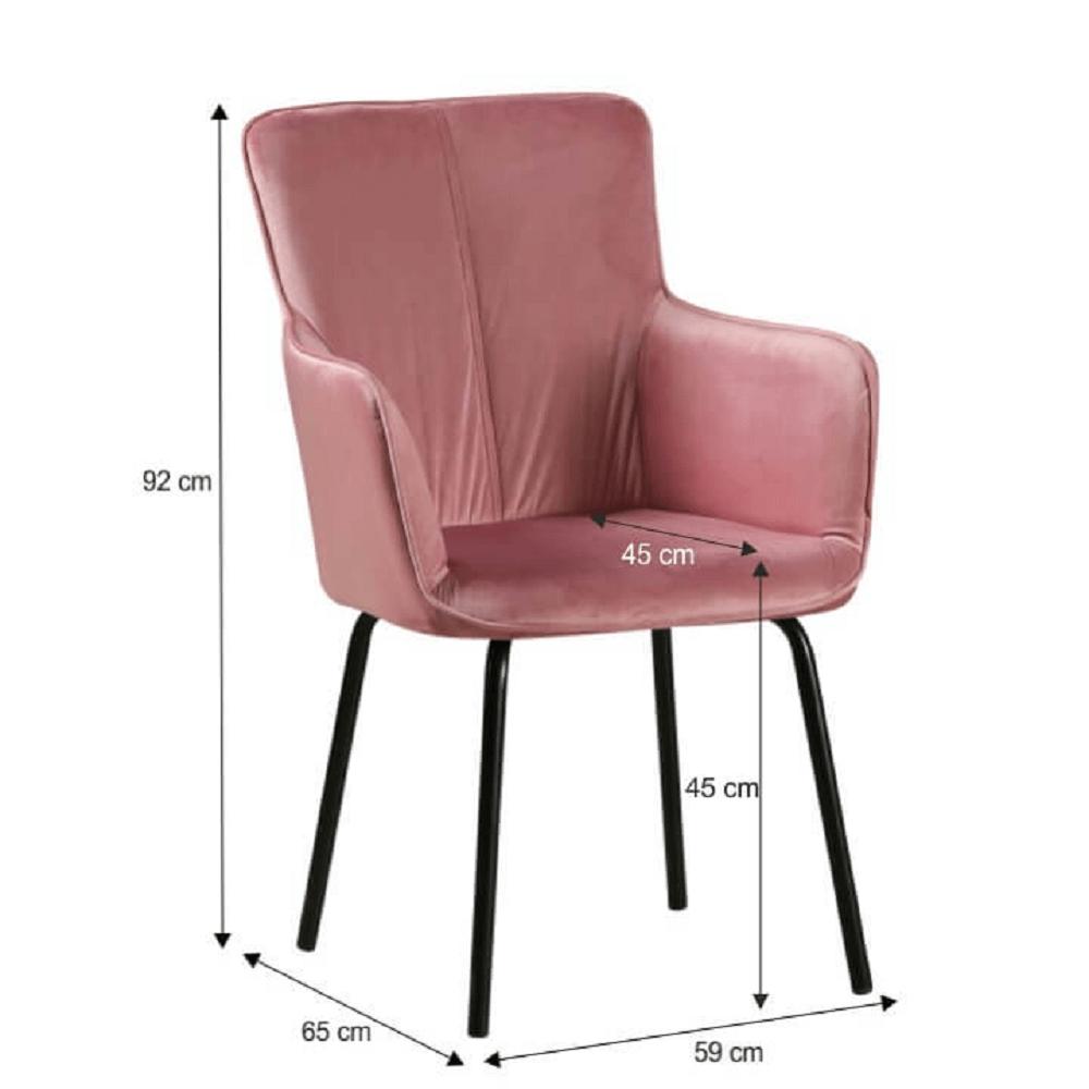 Designové křeslo, růžová/černá, VETAR