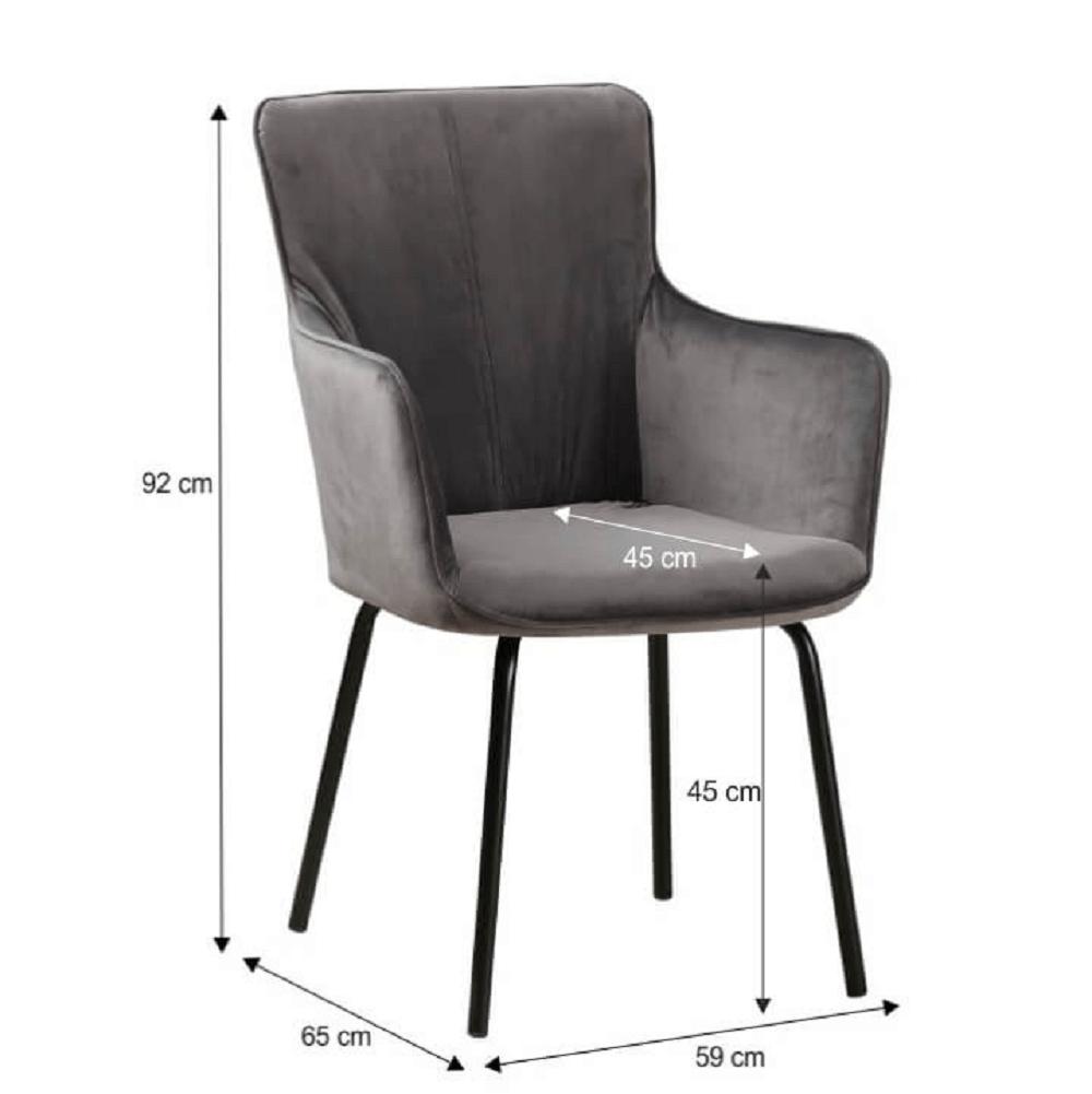 Designové křeslo, šedá/černá, VETAR