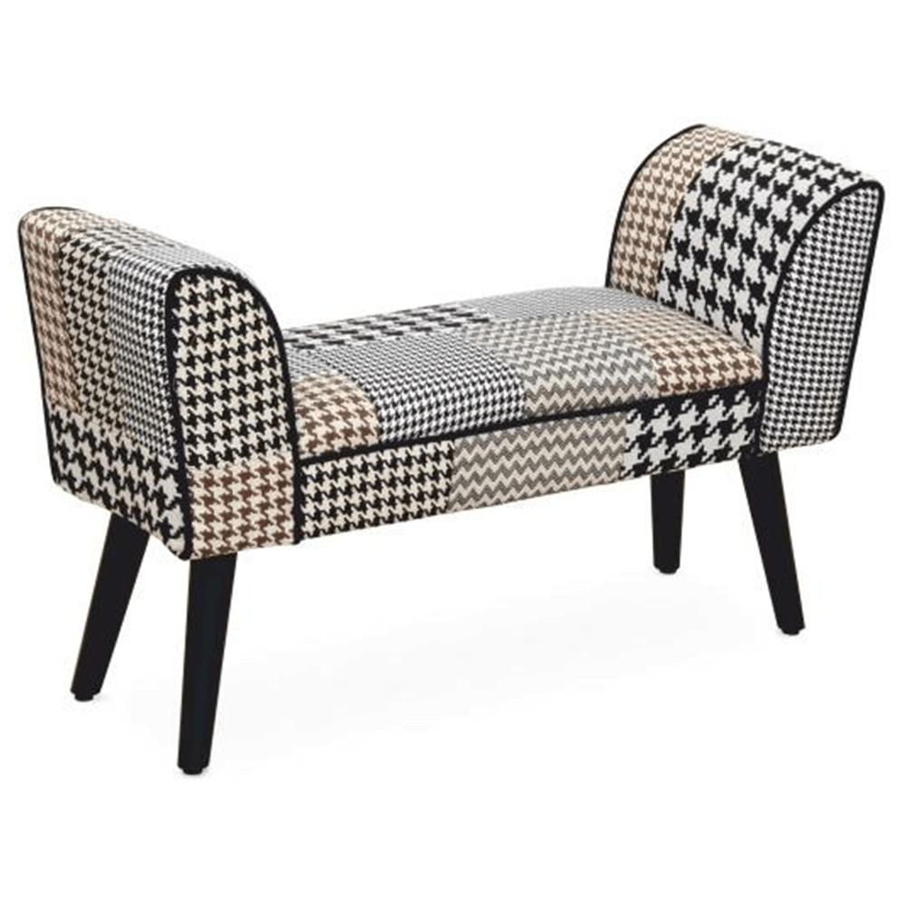 Dizajnová lavica, látka patchwork, PEPITO NEW TYP 7