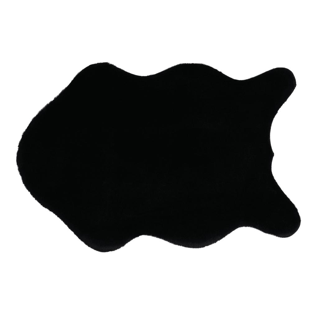 Umelá kožušina, čierna, 60x90, RABIT NEW TYP 1