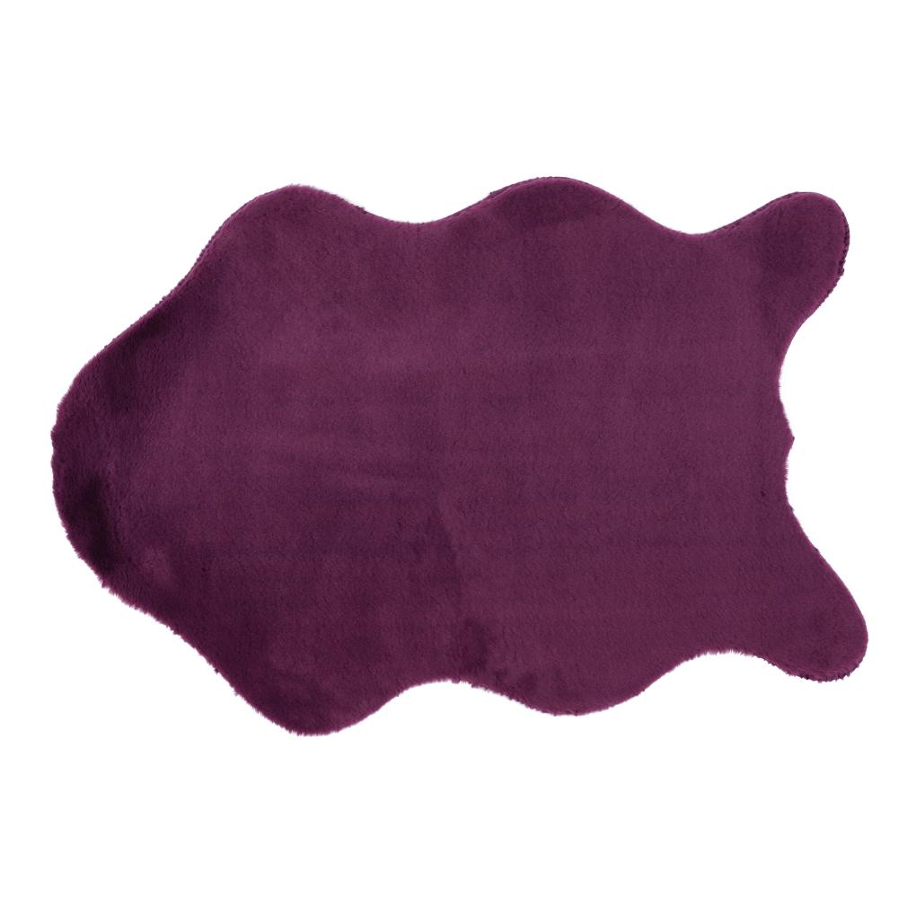Umelá kožušina, fialová, 60x90, RABIT NEW TYP 6