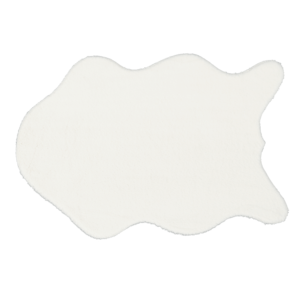 Umelá kožušina, biela, 60x90, RABIT NEW TYP 7
