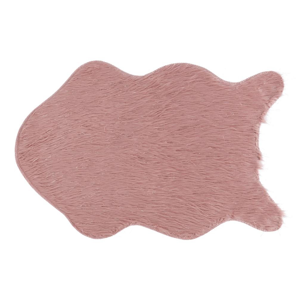 Umelá kožušina, ružová/zlatoružová, 60x90, FOX TYP 3