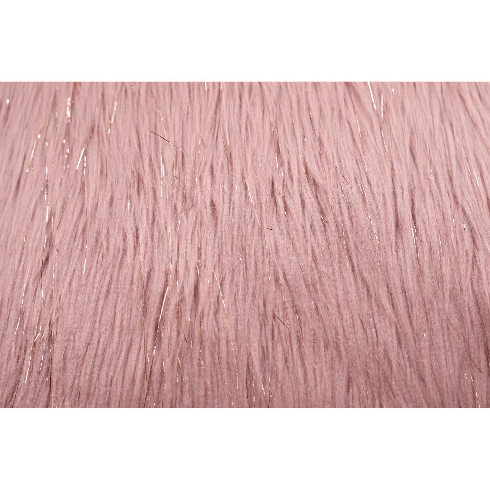 Polštář, růžová / zlatoružová, 45x45, Foxa TYP 3