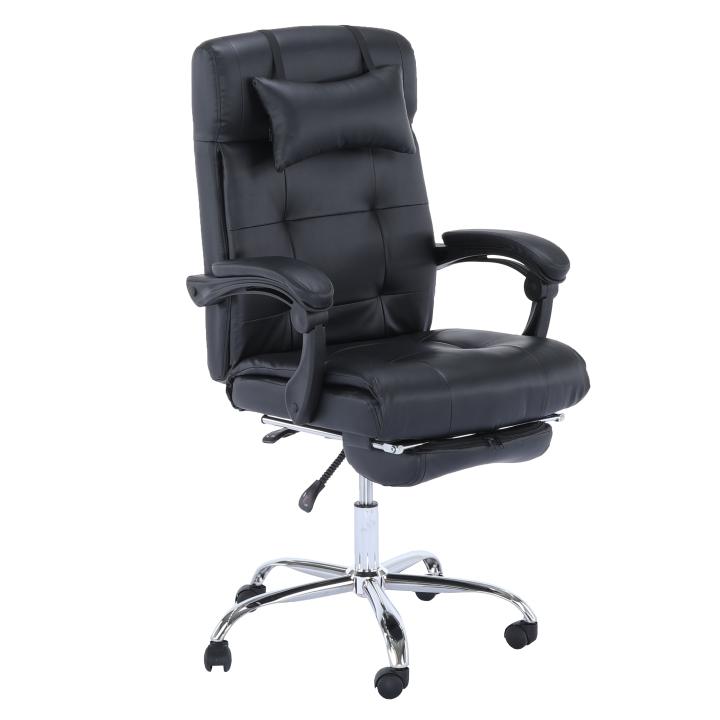 Kancelárske kreslo, ekokoža čierna, ARNAUD NEW