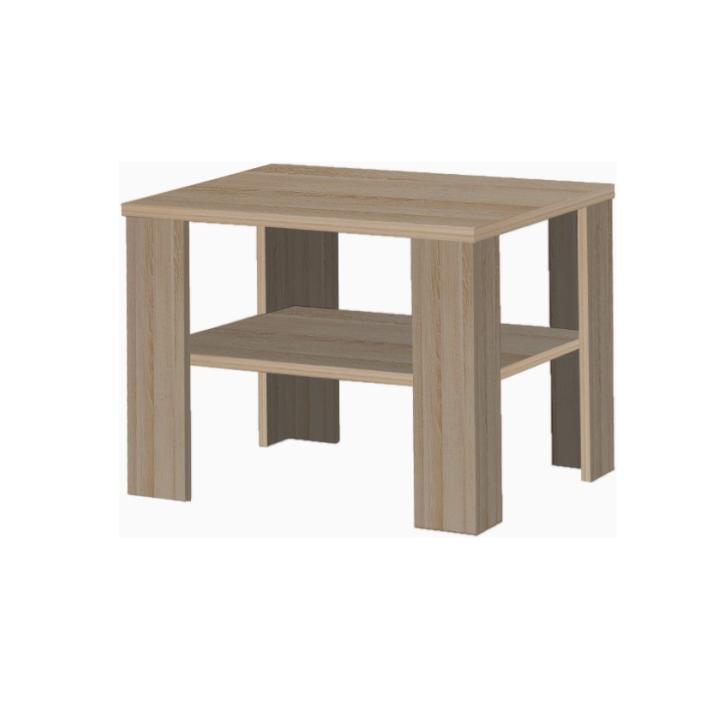 Konferenčný stolík, malý, dub sonoma tmavý truflový, INTERSYS 21