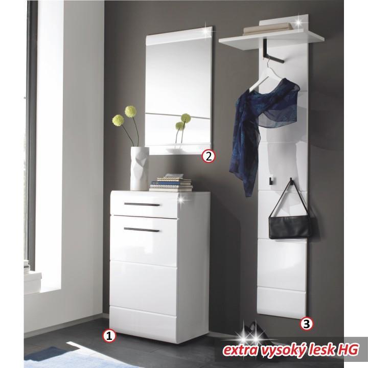 Predsie u0148ov u00fd nábytok Zostavy Predsie u0148ová zostava, biela, extra vysok u00fd lesk, DERBY e shop