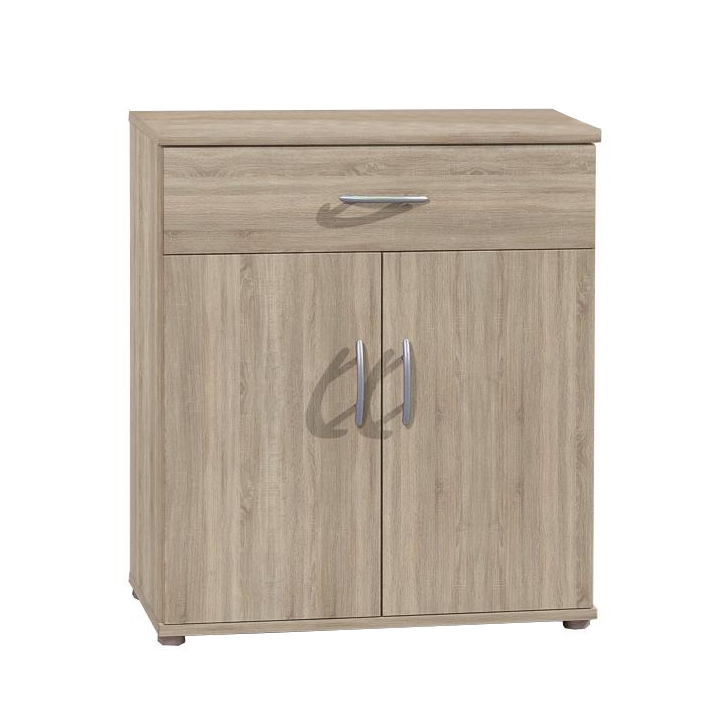 TEMPO KONDELA Komoda, 2 dverová s 1 zásuvkou, dub sonoma, LILLY 11