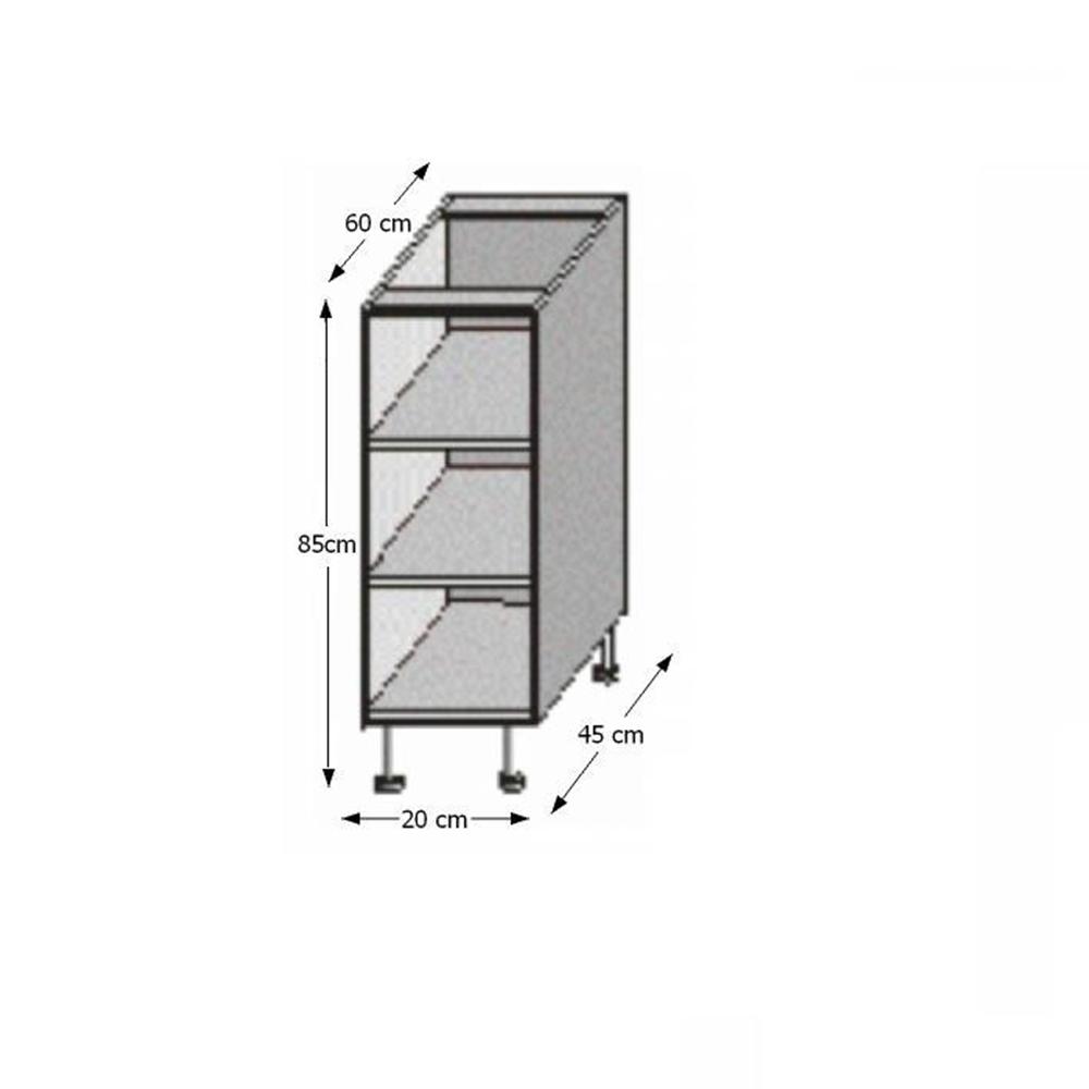 Spodní policová skříňka, rigolletto dark / rigolletto light / wenge, JURA NEW I DO-20