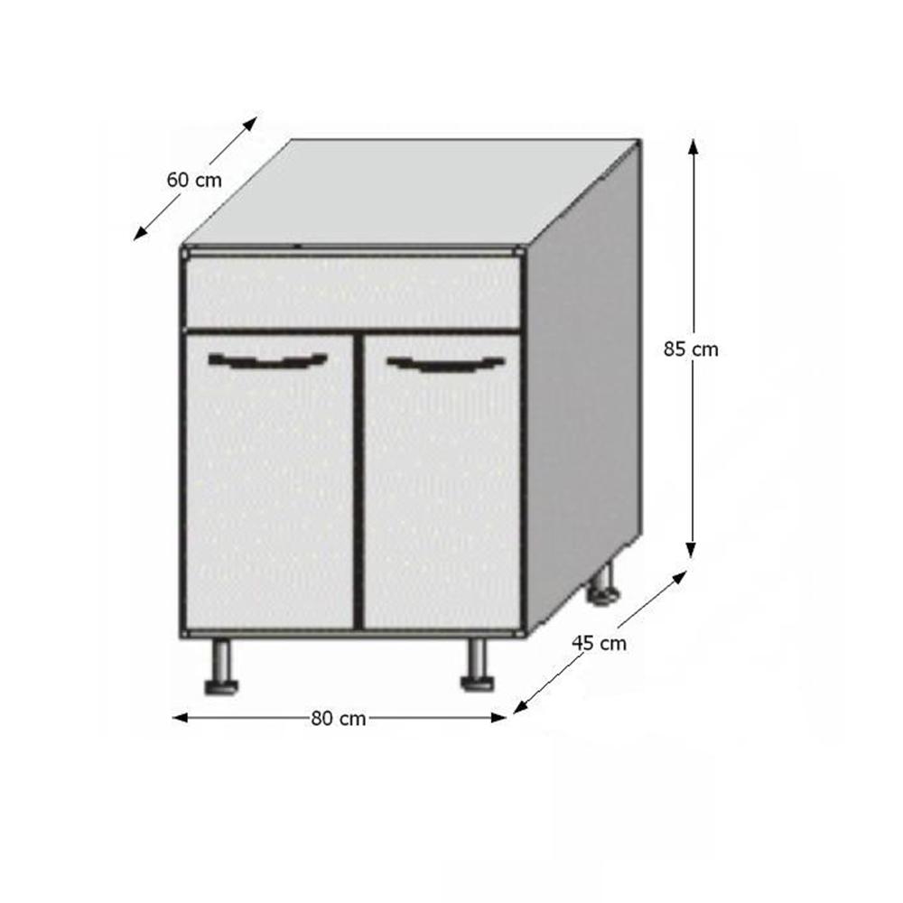 Spodní dřezová skříňka, rigolletto dark / rigolletto light / wenge, JURA NEW I DZ-80, TEMPO KONDELA