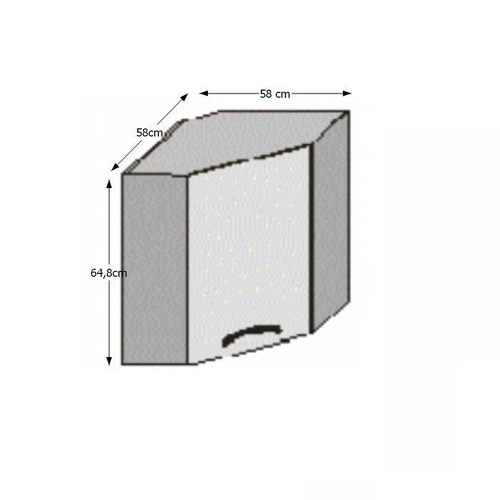 Horní rohová skříňka JURA NEW I GN-58 * 58