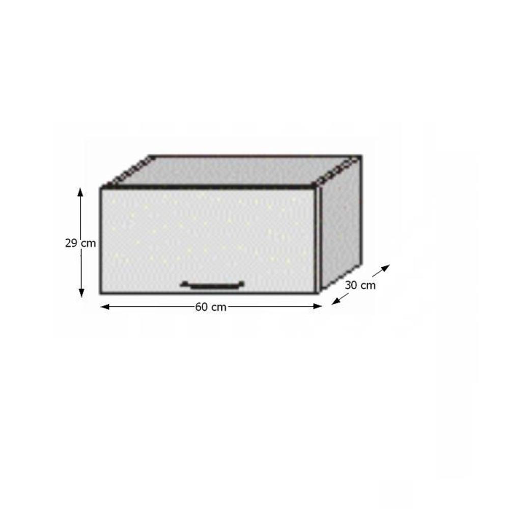 Horní skříňka, rigolletto dark / rigolletto light / wenge, JURA NEW I OG-60