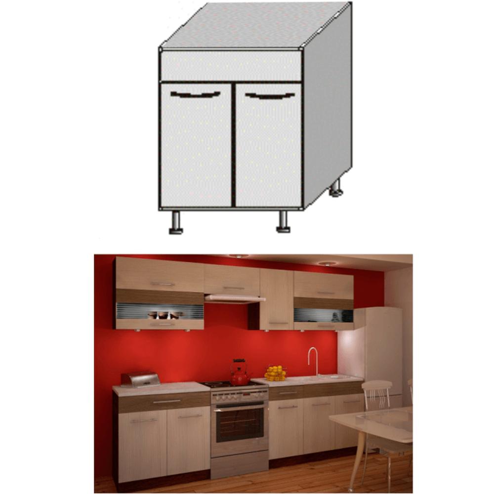 Dulap bucătărie chiuvetă, rigoleto dark+light/wenge, JURA NEW IA DZ-80