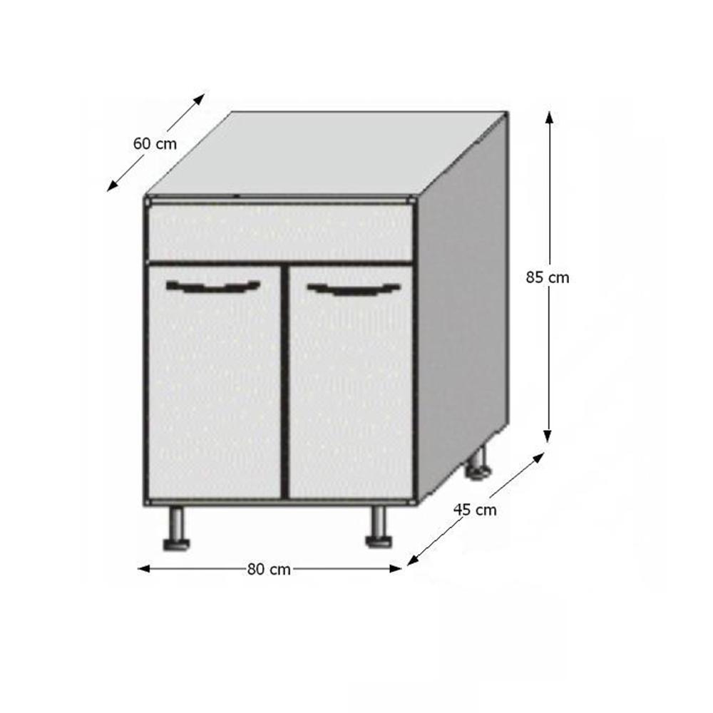 Spodní dřezová skříňka, rigolletto light / rigolletto dark / wenge, JURA NEW IA DZ-80, TEMPO KONDELA