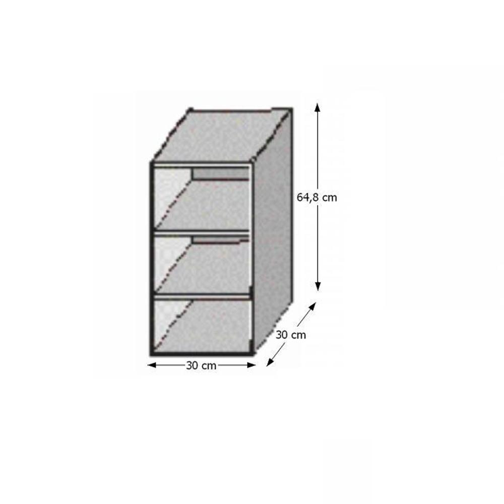Horní policová skříňka, rigolletto light / rigolletto dark / wenge, JURA NEW IA GO-30