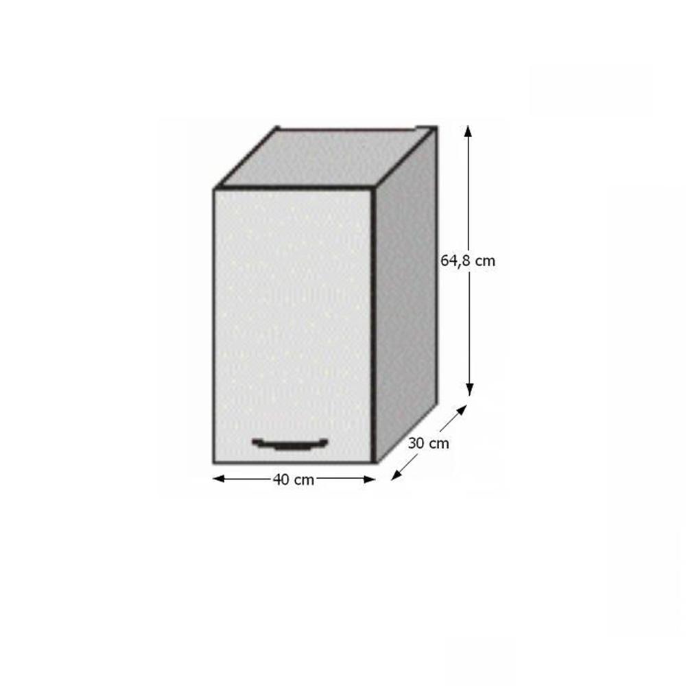 Horní skříňka, rigolletto light / rigolletto dark / wenge, JURA NEW IA G-40, TEMPO KONDELA