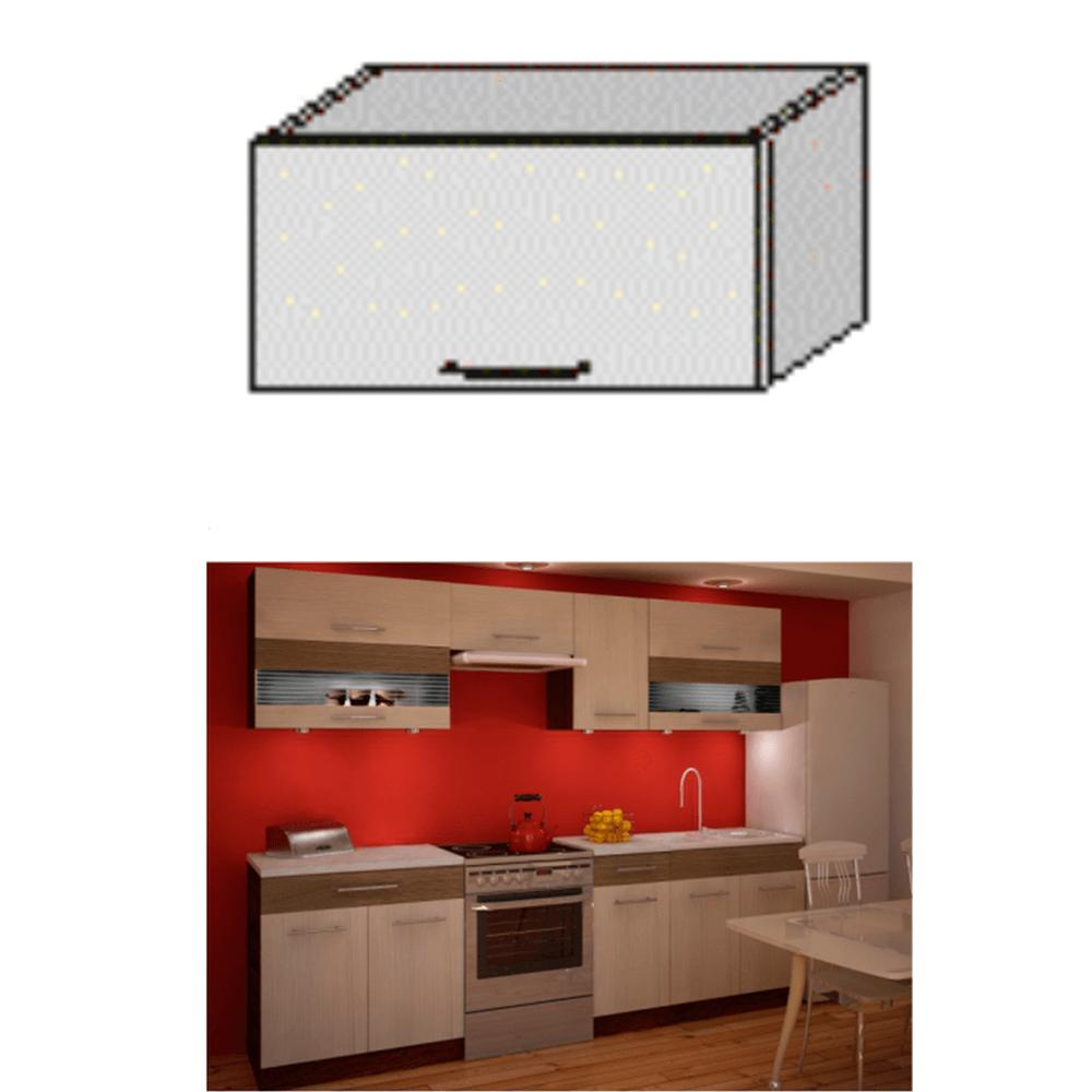 Dulap bucătărie, rigoleto dark+light/wenge, JURA NEW IA OG-60