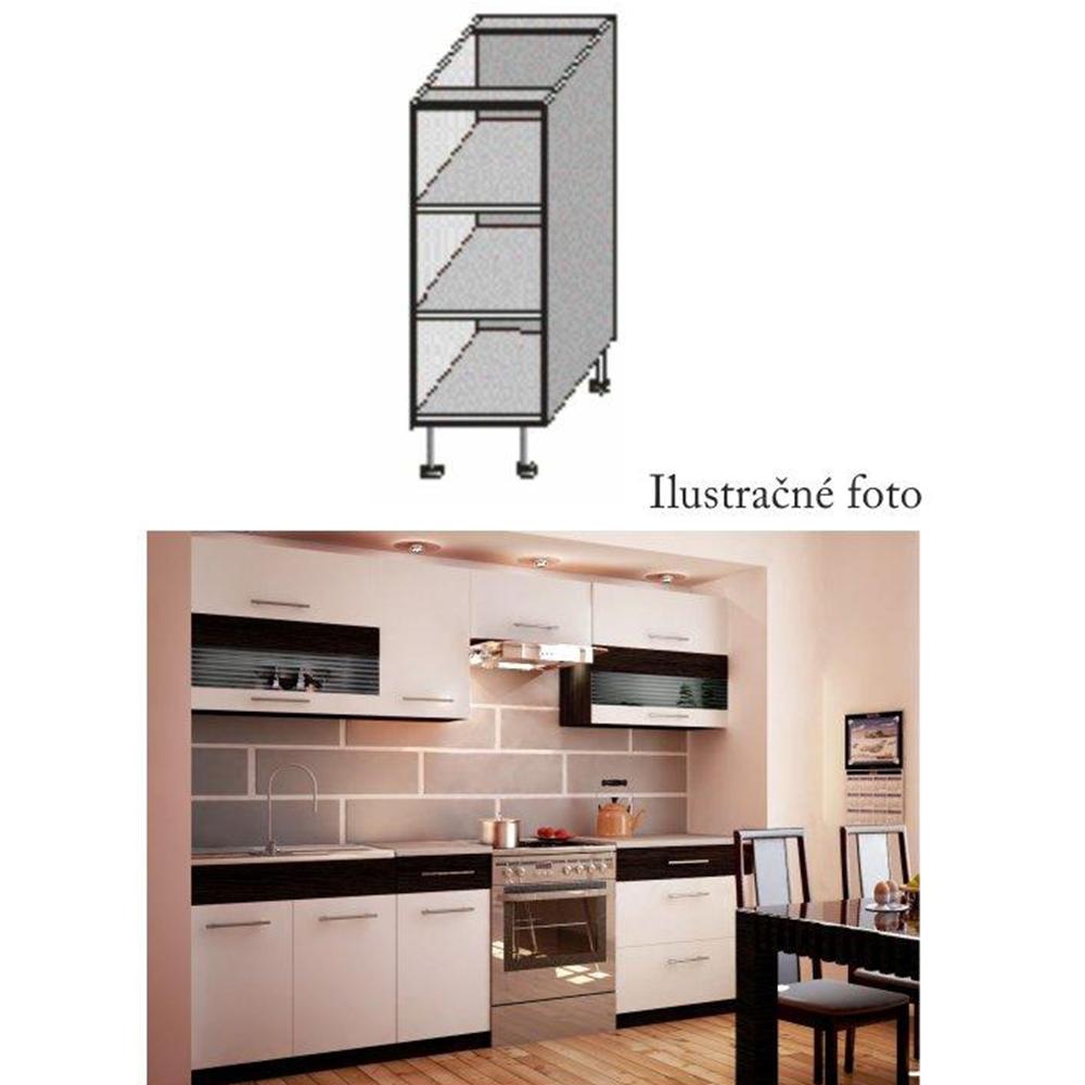 Alsó polcos szekrény, fehér/wenge, JURA NEW B DO-20