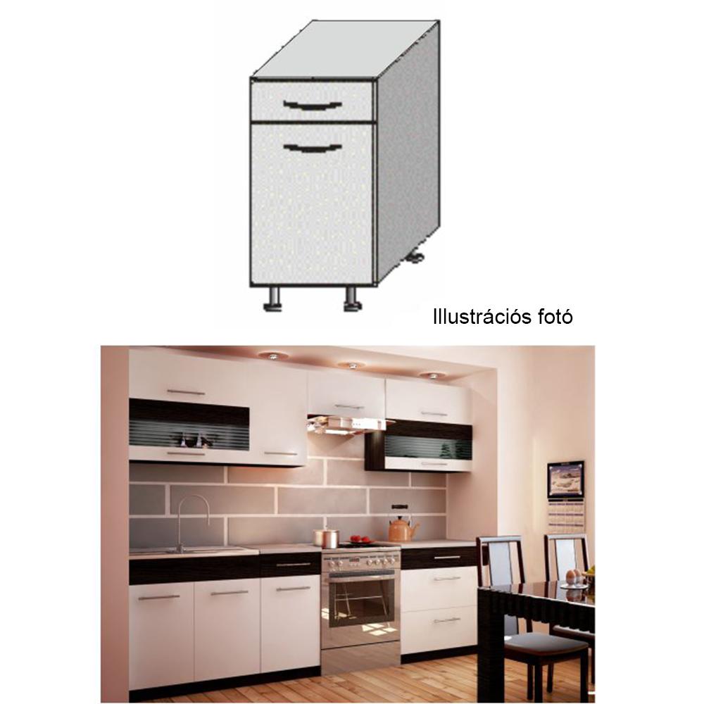 Alsó szekrény, fehér/venge, JURA NEW B D-40 S1