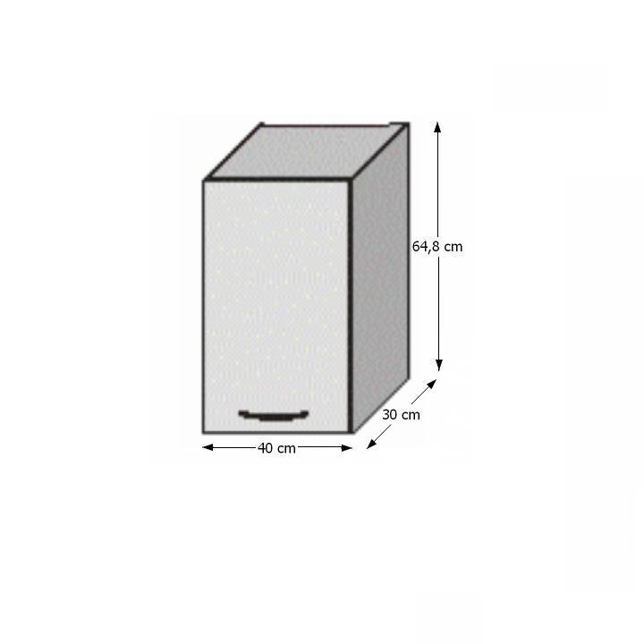 Felső szekrény, fehér/venge, JURA NEW B G-40
