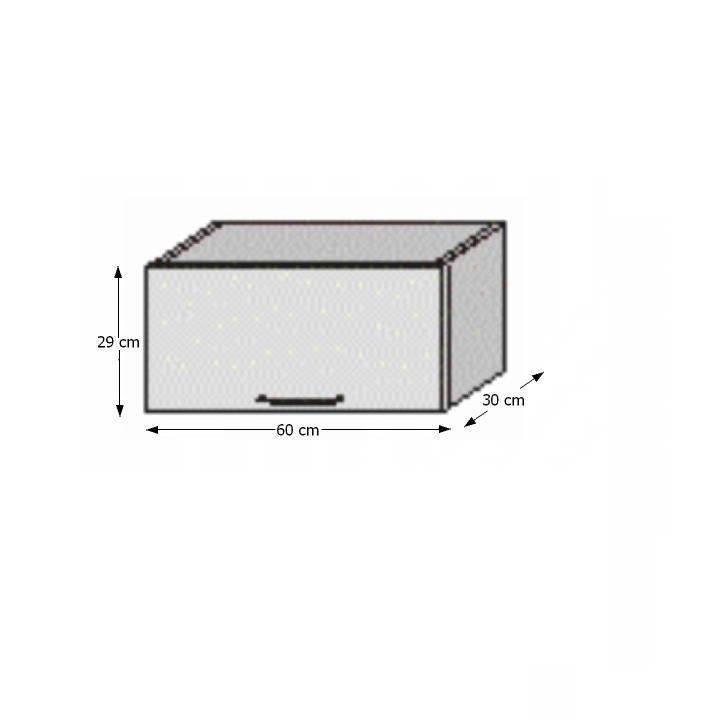 Felső szekrény, fehér/venge, JURA NEW B OG-60