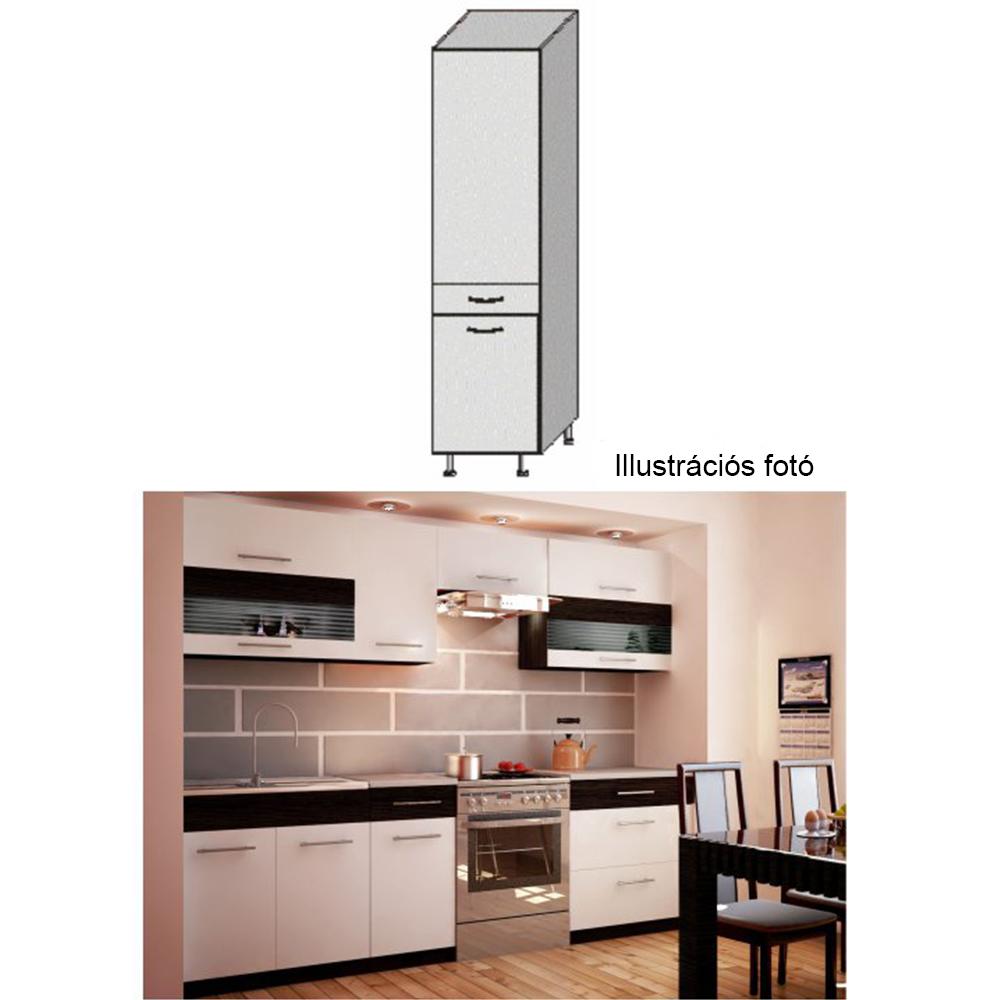 Élelmiszer szekrény, fehér/venge, JURA NEW B S-40