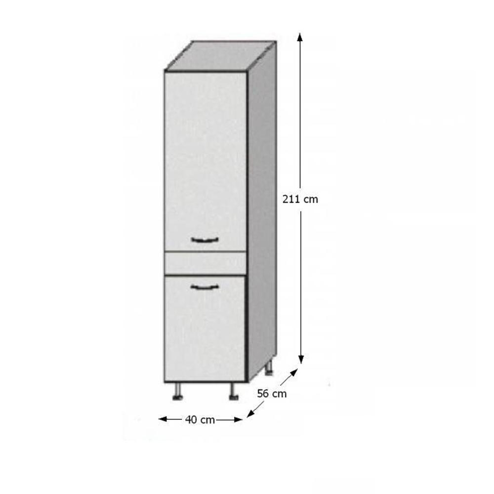 Potravinová skříňka, bílá / wenge, JURA NEW B S-40