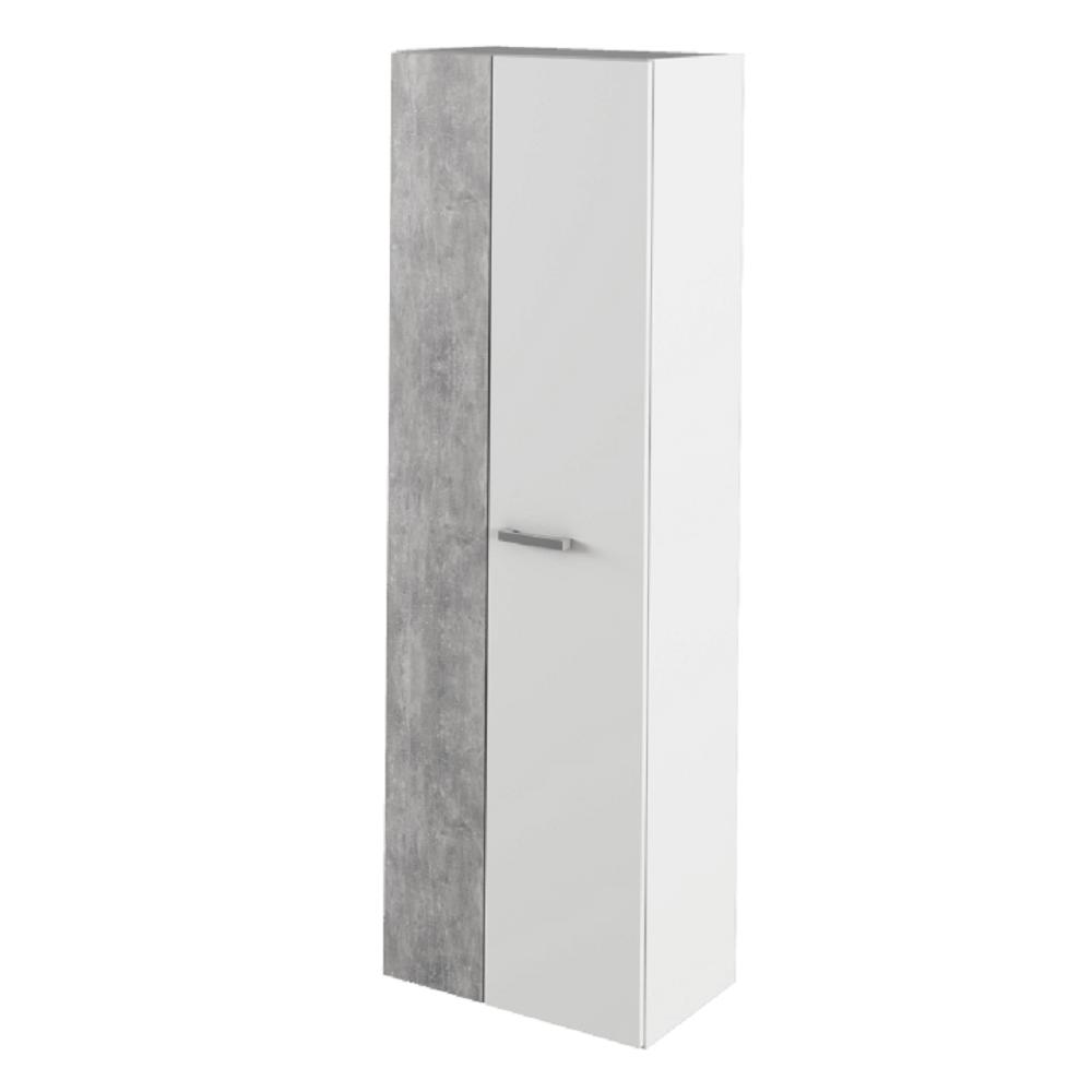 Skříň, bílá / beton, SIMA, TEMPO KONDELA