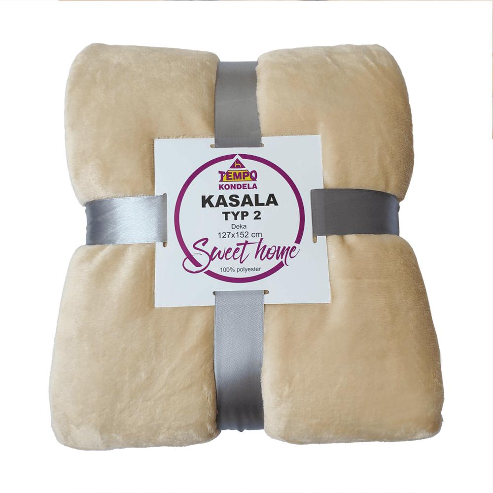Obojstranná deka, béžová, 127x152, KASALA TYP 2