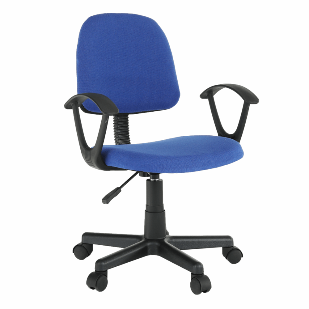 Kancelárska stolička, modrá/čierna, TAMSON
