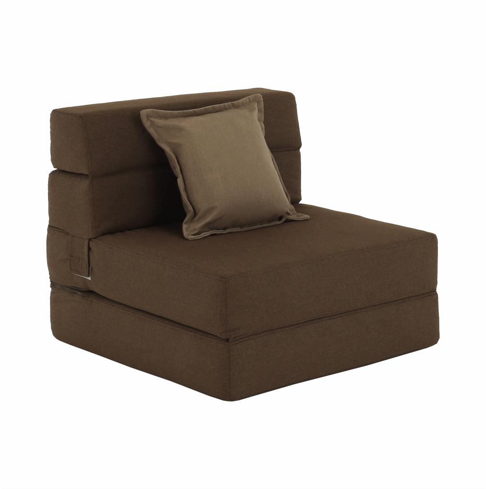 Kinyitható fotel, barna, ZAFIR