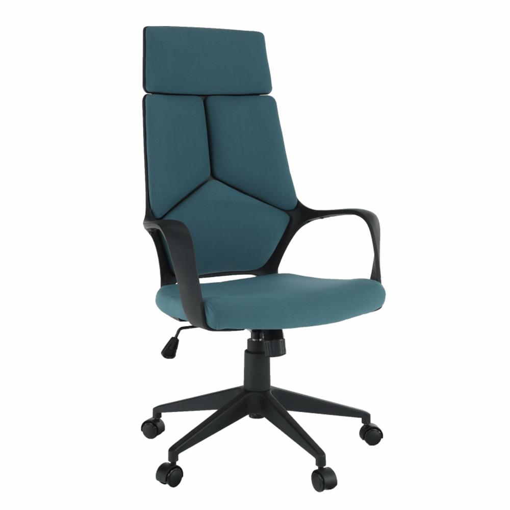 Kancelárske kreslo, modrá/čierna, BAKARI